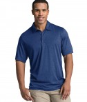 Charles River Apparel Navy Heather Heathered Polo - model