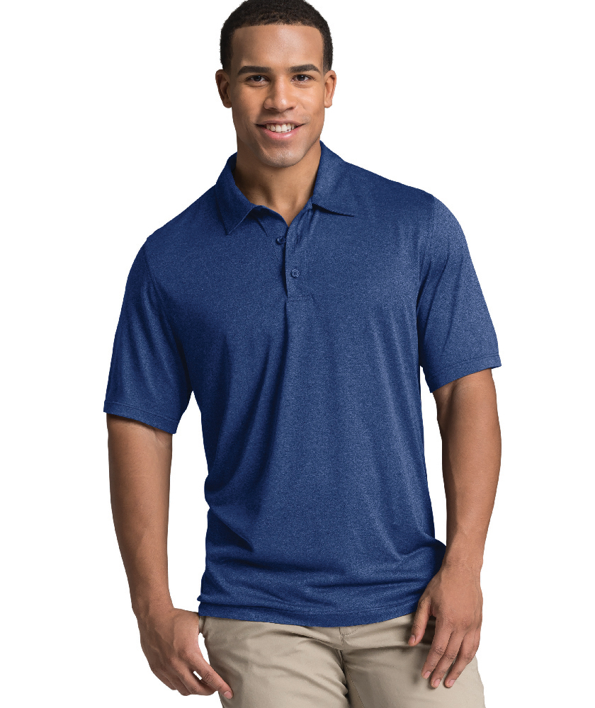Charles River Apparel Navy Heather Heathered Polo – model
