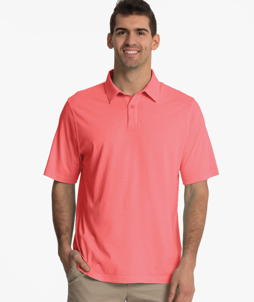 Charles River Apparel Melon Men's Seaside Polo – model