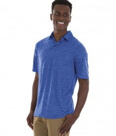 Charles River Apparel Style 3814 Royal Men's Space Dye Polo Shirt - model