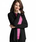 Charles River Apparel Black Women's Cardigan Wrap - model