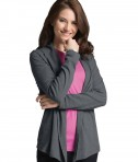 Charles River Apparel Dark Charcoal Heather Women's Cardigan Wrap - model