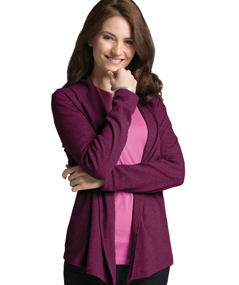 Charles River Apparel Berry Women's Cardigan Wrap – model