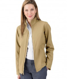 Charles River Apparel Khaki Women's Dockside Jacket - model