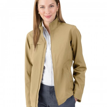 Charles River Apparel Khaki Women's Dockside Jacket – model