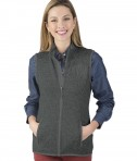 Charles River Apparel Women's Pacific Heathered Fleece -  Charcoal Heather