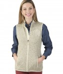 Charles River Apparel Style 5722 Women's Pacific Heathered Fleece - Oatmeal Heather