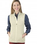 Charles River Apparel Women's Pacific Heathered Fleece - Ivory Heather