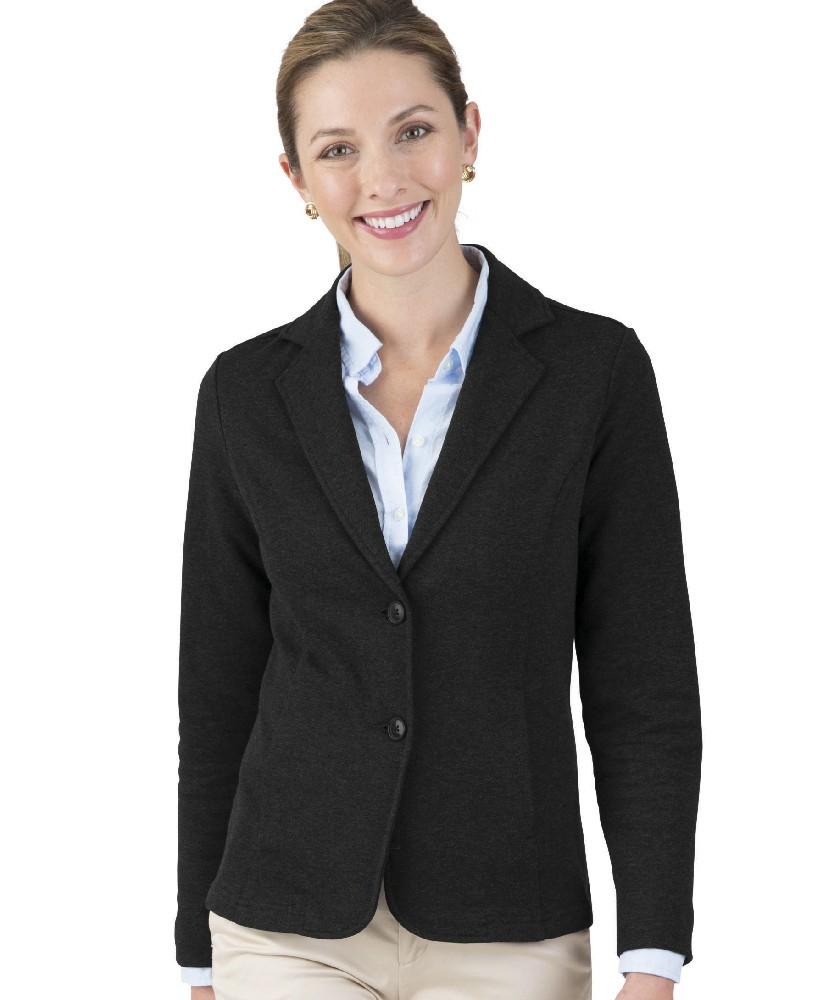 Charles River Apparel Black Women's Hartford Knit Blazer Style 5737