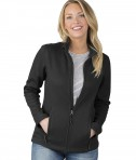 Charles River Apparel Style 5748 Women's Heritage Rib Knit Jacket Black
