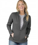 Charles River Apparel Style 5748 Women's Heritage Rib Knit Jacket Grey