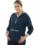 Charles River Apparel Style 5809 Navy Women's Chatham Anorak Solid  - model