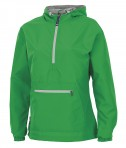 Charles River Apparel Style 5809 Kelly Green Women's Chatham Anorak Solid