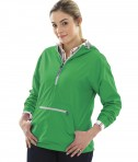 Charles River Apparel Style 5809 Kelly Green Women's Chatham Anorak Solid  - model