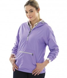 Charles River Apparel Style 5809 Women's Lilac Chatham Anorak Solid  - model
