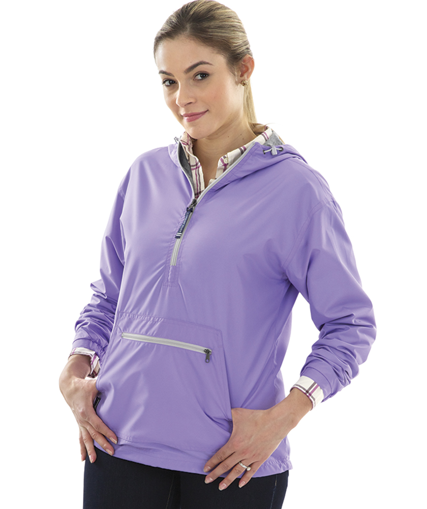 Charles River Apparel Style 5809 Women's Lilac Chatham Anorak Solid  – model