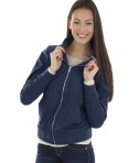 Charles River Apparel Style 5824 Women's Boston Flight Jacket -  Navy - model
