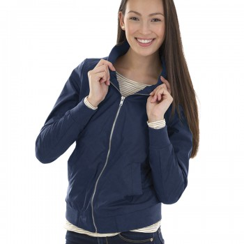 Charles River Apparel Style 5824 Women's Boston Flight Jacket –  Navy – model