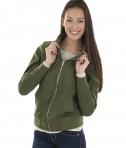 Charles River Apparel Style 5824 Women's Boston Flight Jacket - Olive - model