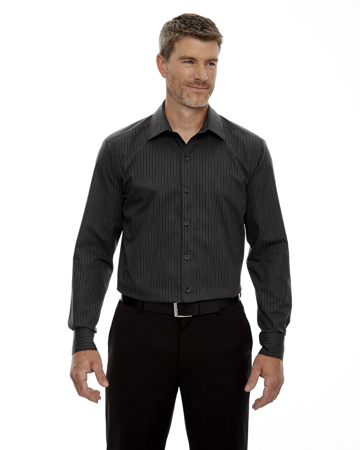 North End Men's Boardwalk Shirt Style 88674 – Black