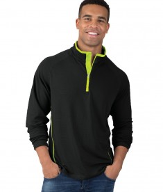 Charles River Apparel Style 9566 Fusion Long Sleeve Pullover - model