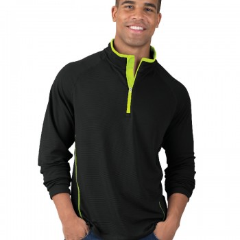 Charles River Apparel Style 9566 Fusion Long Sleeve Pullover – model