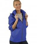 Charles River Apparel Royal Pack-N-Go Full Zip Reflective Jacket - female model