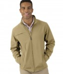 Charles River Apparel Khaki Men's Dockside Jacket - model