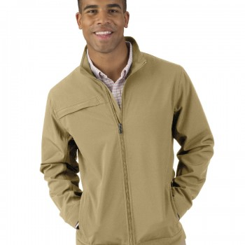 Charles River Apparel Khaki Men's Dockside Jacket – model