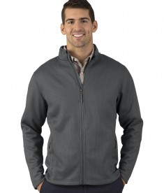 Charles River Apparel 9748 Men's Heritage Rib Knit Jacket Grey2