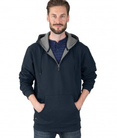 Charles River Apparel Navy Men's Tradesman Quarter Zip Jacket - model