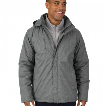 Charles River Apparel Men's Grey Melange Journey Parka