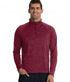 Charles River Apparel Maroon Men's Space Dye Performance Pullover - model