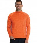 Charles River Apparel Orange Men's Space Dye Performance Pullover - model