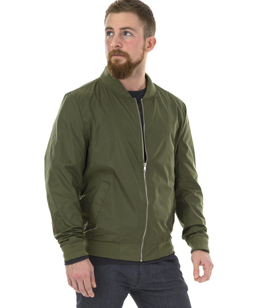 Charles River Apparel Style 9824 Olive Men's Boston Flight Jacket – model