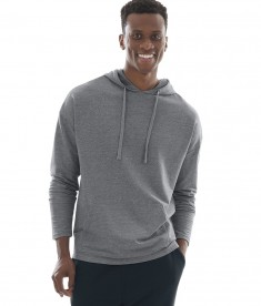 Charles River Apparel Style 9847 Pewter Heather Harbor Hoodie - model