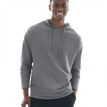 Charles River Apparel Style 9847 Pewter Heather Harbor Hoodie – model