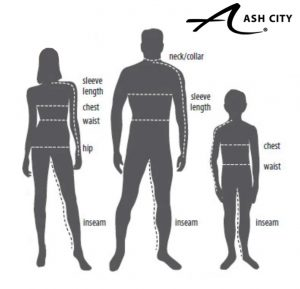 Ash City Size chart figures