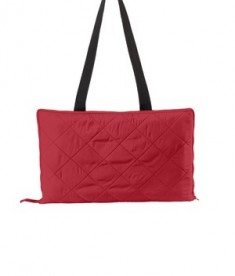 Port Authority Picnic Blanket with Carrrying Strap - Rich Red/True Black