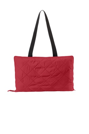 Port Authority Picnic Blanket with Carrrying Strap – Rich Red/True Black