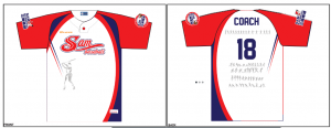 Sublimation Printing Step 1 Uniforms are printed onto high-quality paper