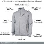 CHARLES RIVER MENS HEATHERED FLEECE JACKET OVERVIEW 9493