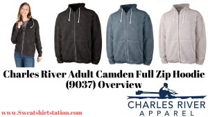 Charles River Adult Camden Full Zip Hoodie (9037) Colors