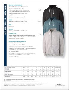 Charles River Adult Camden Full Zip Hoodie (9037) Colors and Size