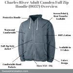 Charles River Adult Camden Full Zip Hoodie (9037) Overview