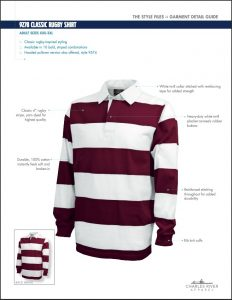 Charles River Adult Classic Rugby Shirt (9278)