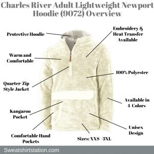 Charles River Adult Lightweight Newport Hoodie (9072) Overview