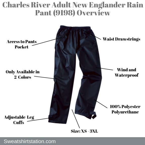 Charles River Adult New Englander Rain Pant (9198) Overview