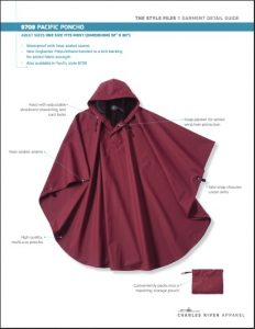 Charles River Adult Pacific Poncho (9709)