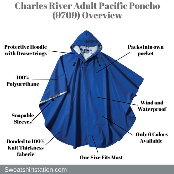 Charles River Adult Pacific Poncho (9709) Overview